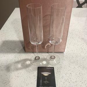 Orrefors Amor Vincit Omnia Crystal Champagne Flute